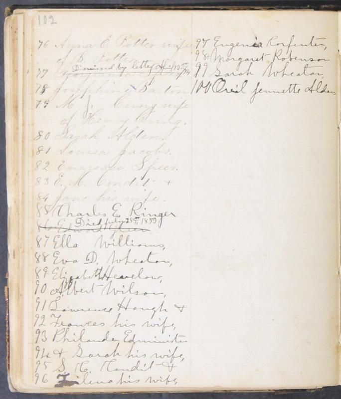 Sessional Records of the 1st Presbyterian Church of Trenton, Delaware Co., Ohio, 1831 (p. 108)