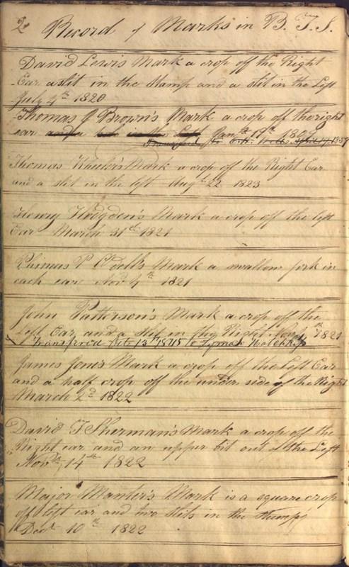 Record Book of Berkshire Township No. 2 1807-1843 (p. 8)