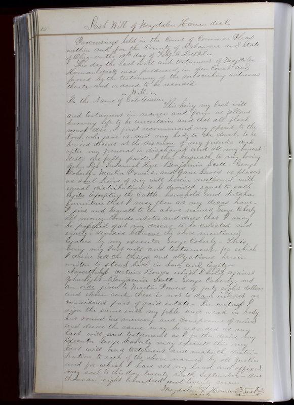 Delaware County Ohio Will Records Vol. 1 1812-1835 (p. 116)