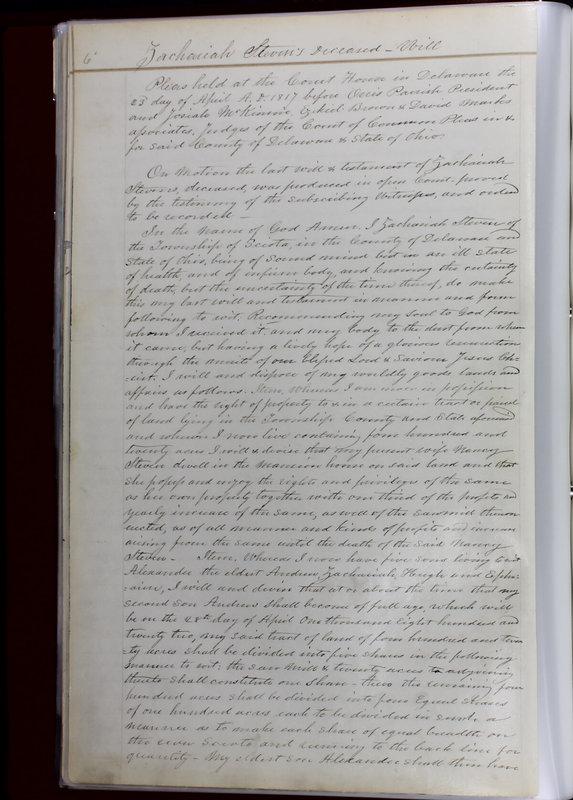 Delaware County Ohio Will Records Vol. 1 1812-1835 (p. 38)