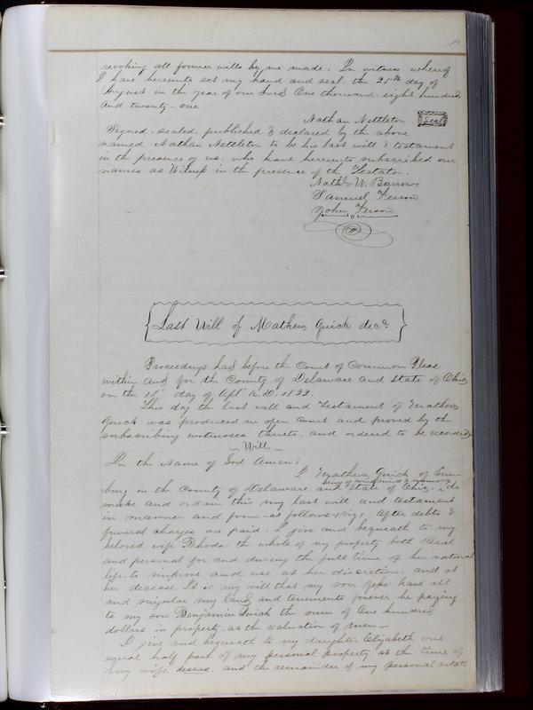 Delaware County Ohio Will Records Vol. 1 1812-1835 (p. 71)