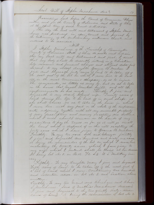 Delaware County Ohio Will Records Vol. 1 1812-1835 (p. 83)