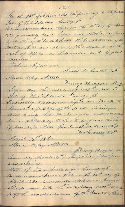 Record Book of Berkshire Township No. 2 1807-1843 (p. 137)
