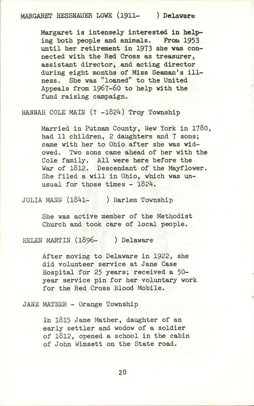 Some Delaware County Women Past and Present (p. 25)