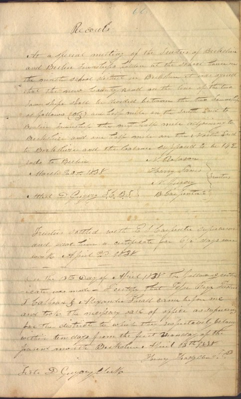 Record Book of Berkshire Township No. 2 1807-1843 (p. 79)