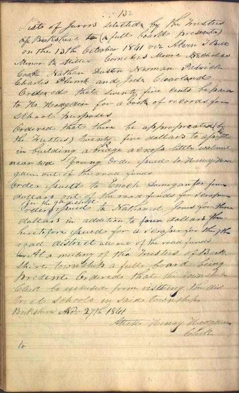 Record Book of Berkshire Township No. 2 1807-1843 (p. 146)