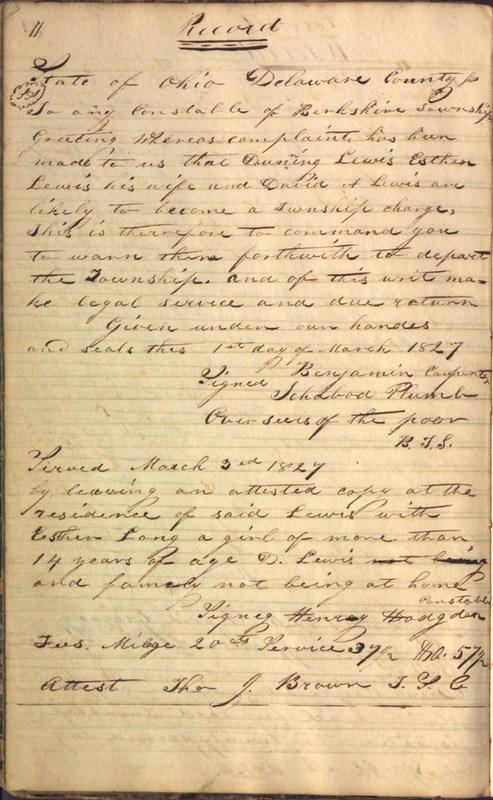 Record Book of Berkshire Township No. 2 1807-1843 (p. 24)