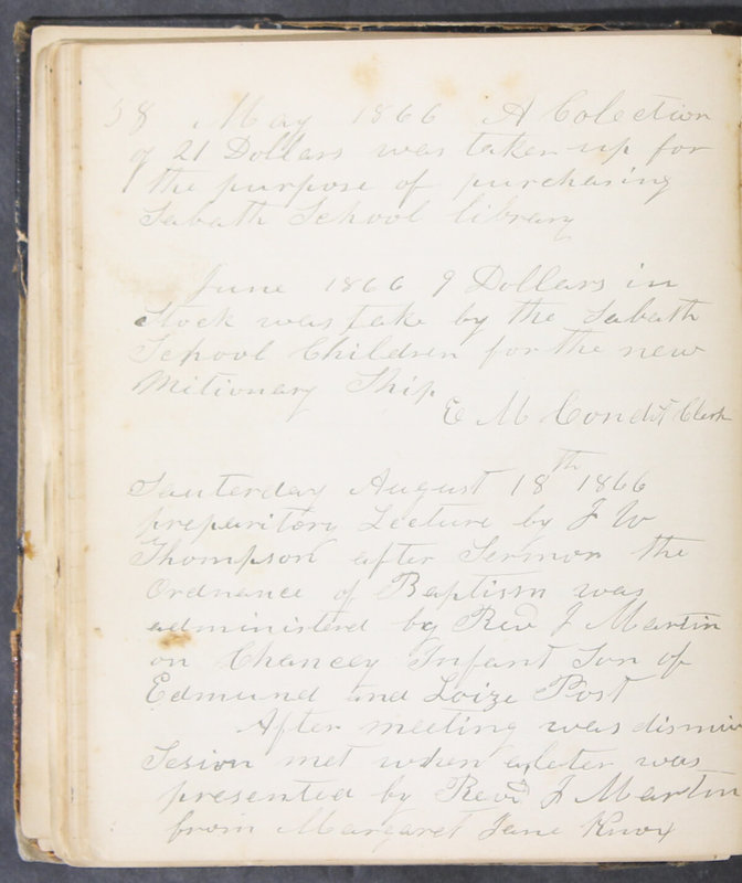 Sessional Records of the 1st Presbyterian Church of Trenton, Delaware Co., Ohio, 1831 (p. 64)