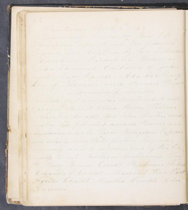 Sessional Records of the 1st Presbyterian Church of Trenton, Delaware Co., Ohio, 1831 (p. 48)