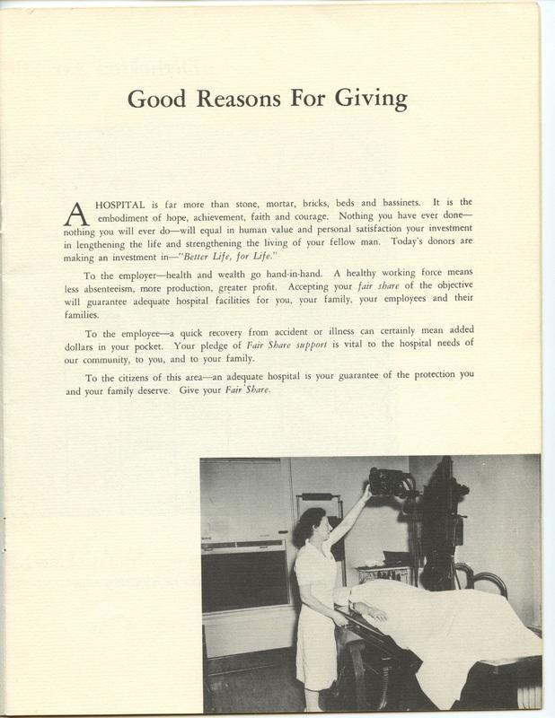 The Jane M. Case Hospital Building Campaign (p. 9)