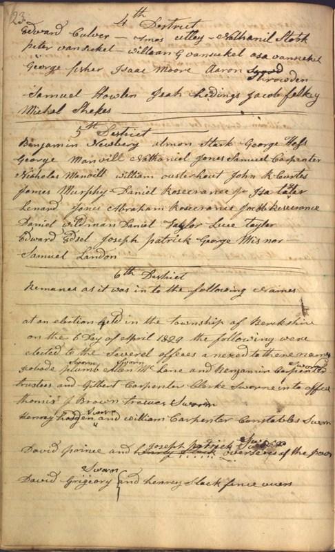 Record Book of Berkshire Township No. 2 1807-1843 (p. 36)