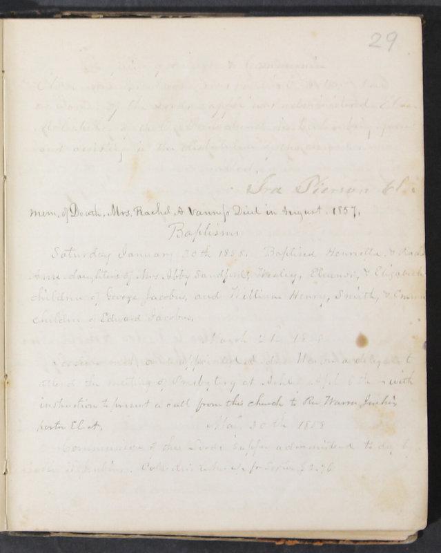 Sessional Records of the 1st Presbyterian Church of Trenton, Delaware Co., Ohio, 1831 (p. 35)