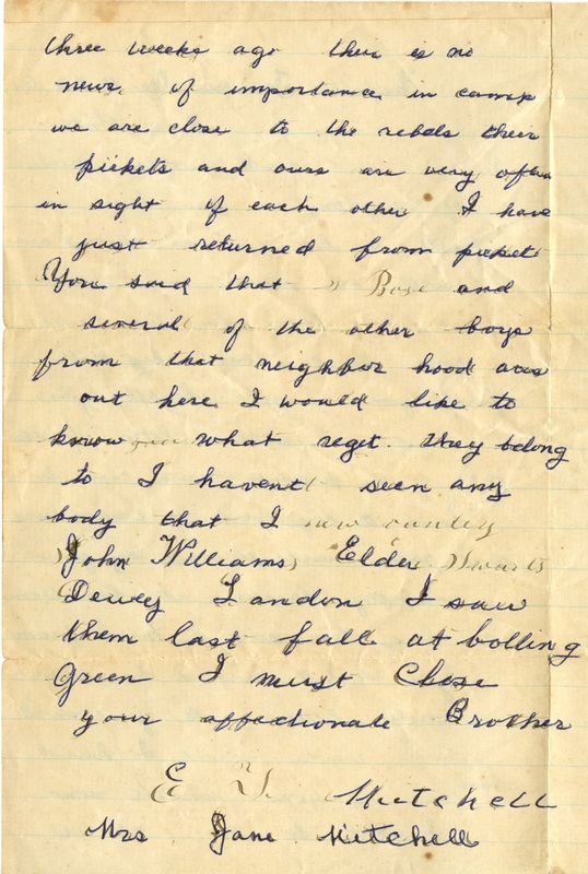 Mitchell Family Civil War Letters (p. 35)