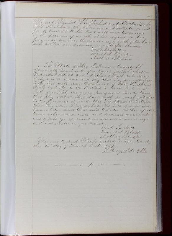 Delaware County Ohio Will Records Vol. 1 1812-1835 (p. 137)
