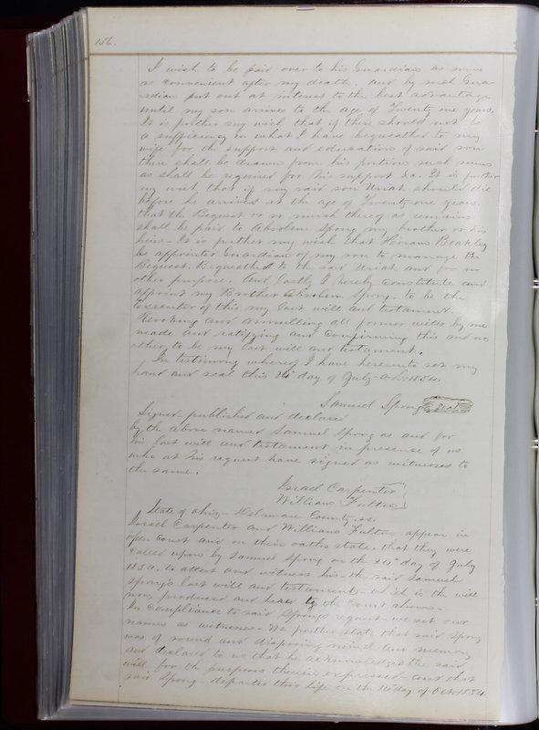 Delaware County Ohio Will Records Vol. 1 1812-1835 (p. 168)