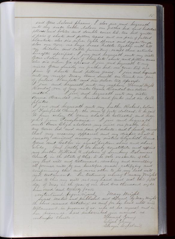 Delaware County Ohio Will Records Vol. 1 1812-1835 (p. 87)