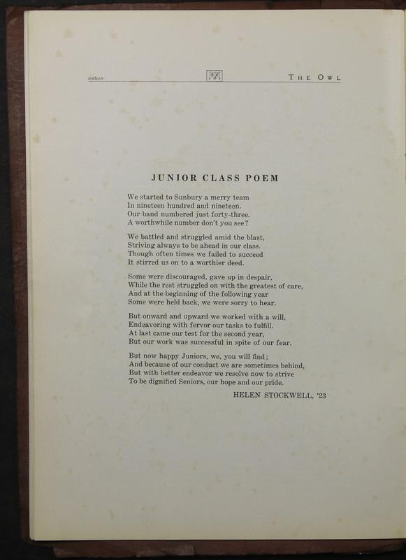 The Owl, Vol. II, 1922 (p.18)