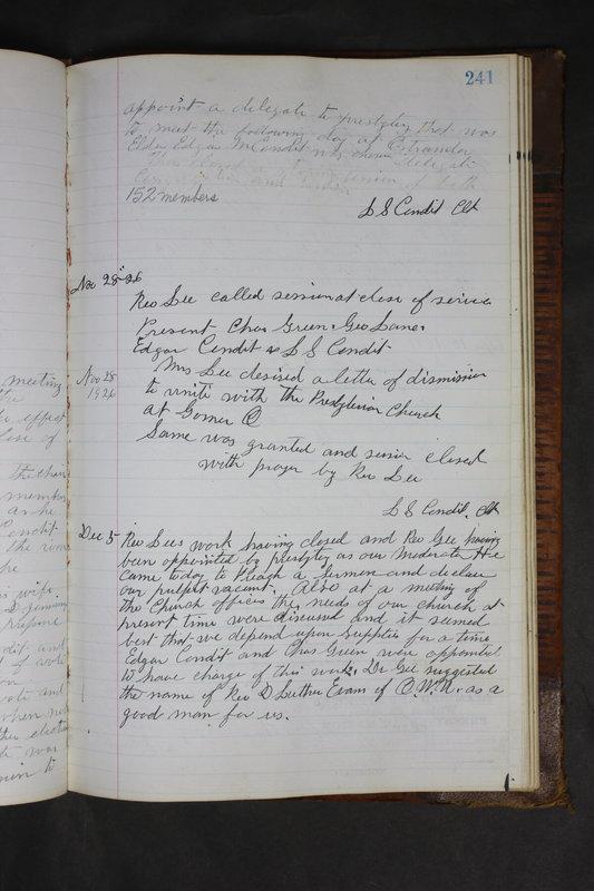 Sessional Records of the 1st Presbyterian Church of Trenton Delaware County Ohio 1873-1937 (p. 229)