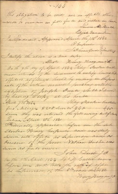 Record Book of Berkshire Township No. 2 1807-1843 (p. 158)