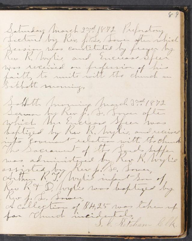 Sessional Records of the 1st Presbyterian Church of Trenton, Delaware Co., Ohio, 1831 (p. 95)