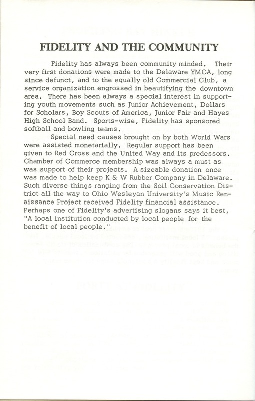 Fidelity Federal Savings and Loan Association 100 Years (p. 31)