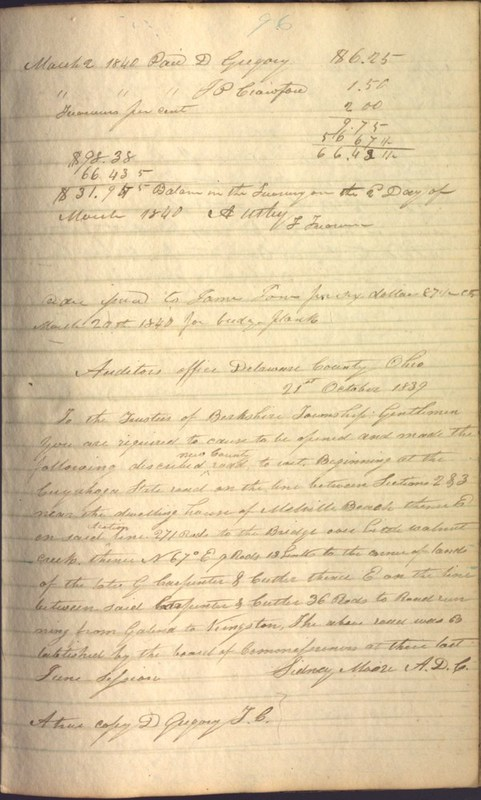 Record Book of Berkshire Township No. 2 1807-1843 (p. 109)