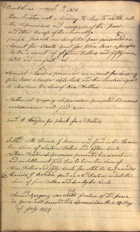 Record Book of Berkshire Township No. 2 1807-1843 (p. 38)