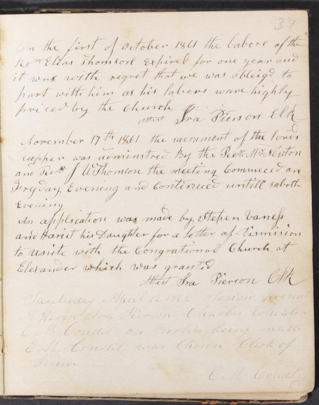 Sessional Records of the 1st Presbyterian Church of Trenton, Delaware Co., Ohio, 1831 (p. 43)