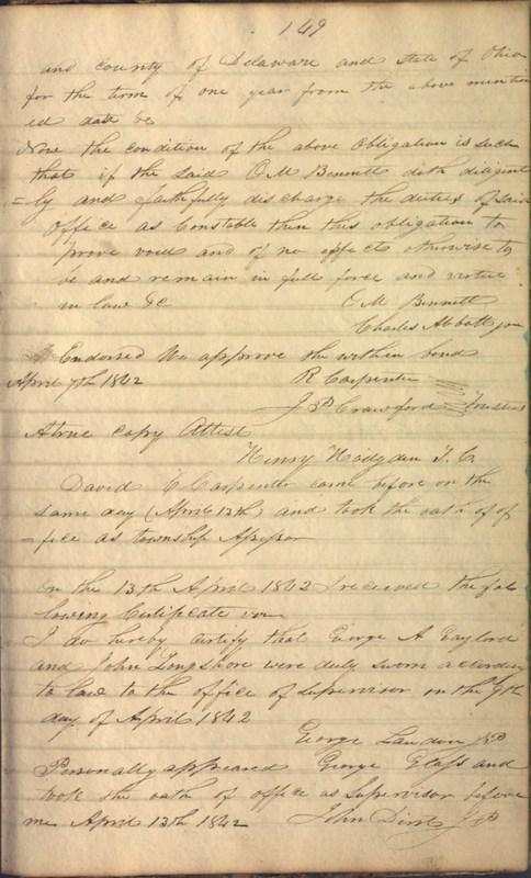 Record Book of Berkshire Township No. 2 1807-1843 (p. 163)