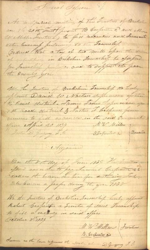 Record Book of Berkshire Township No. 2 1807-1843 (p. 102)