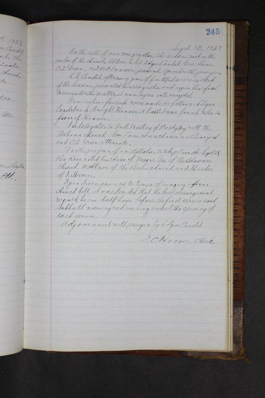 Sessional Records of the 1st Presbyterian Church of Trenton Delaware County Ohio 1873-1937 (p. 233)