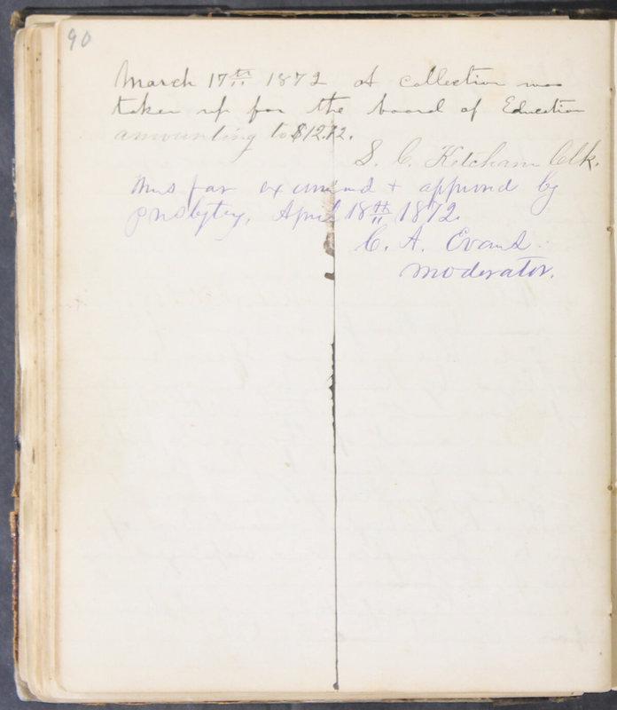 Sessional Records of the 1st Presbyterian Church of Trenton, Delaware Co., Ohio, 1831 (p. 96)