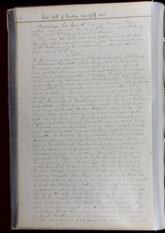 Delaware County Ohio Will Records Vol. 1 1812-1835 (p. 100)