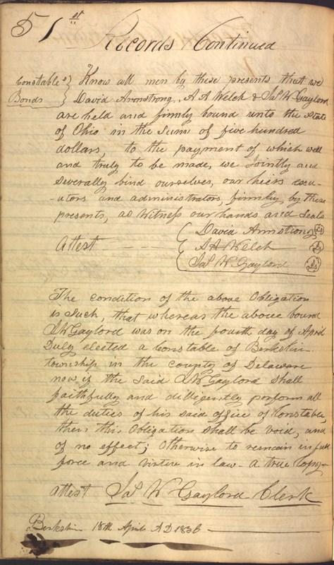 Record Book of Berkshire Township No. 2 1807-1843 (p. 64)