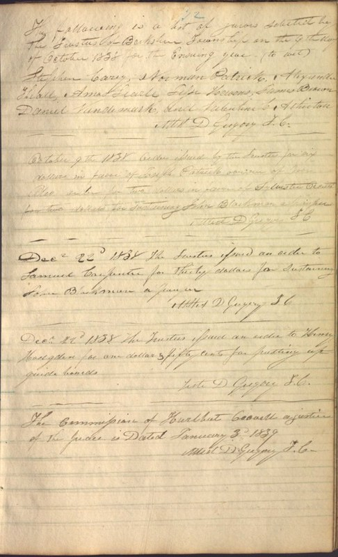 Record Book of Berkshire Township No. 2 1807-1843 (p. 85)