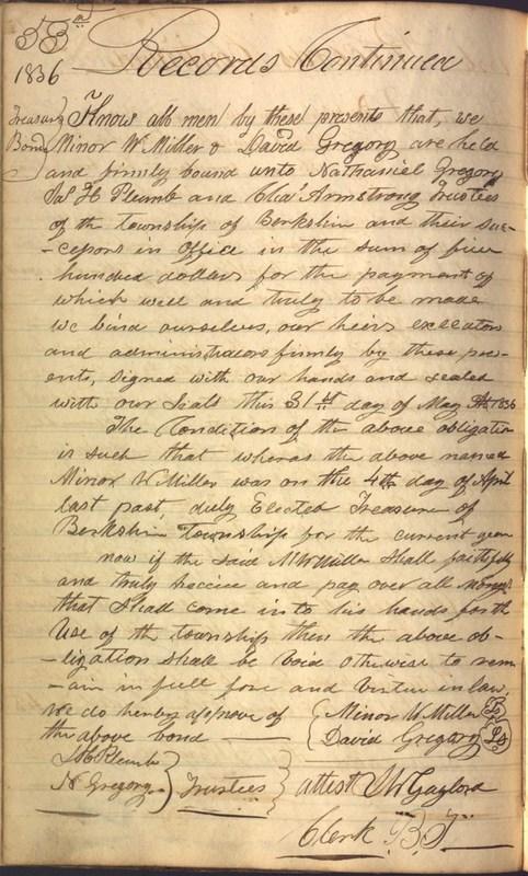 Record Book of Berkshire Township No. 2 1807-1843 (p. 66)