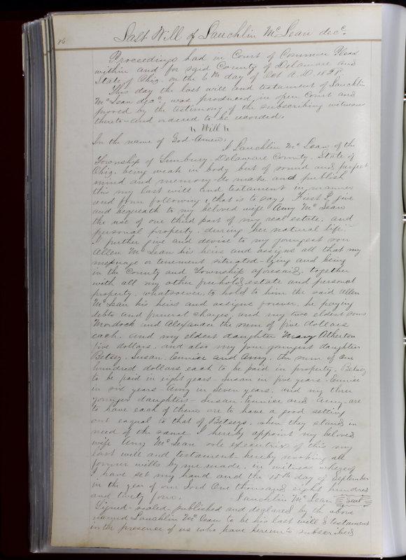 Delaware County Ohio Will Records Vol. 1 1812-1835 (p. 118)