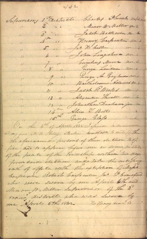 Record Book of Berkshire Township No. 2 1807-1843 (p. 156)