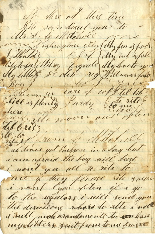 Mitchell Family Civil War Letters (p. 5)