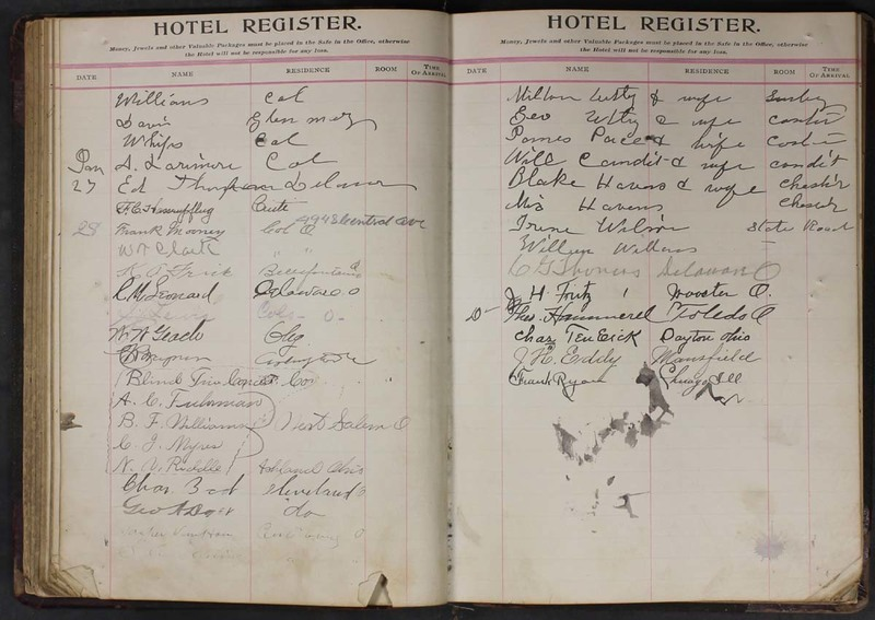 Hopkins House Day Book 1905-1913 (p. 59)