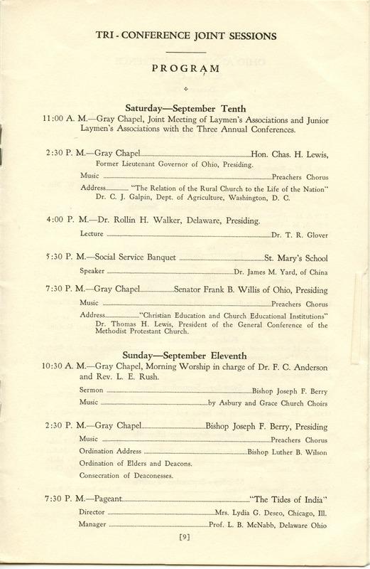 Tri-Conference Program (p. 11)