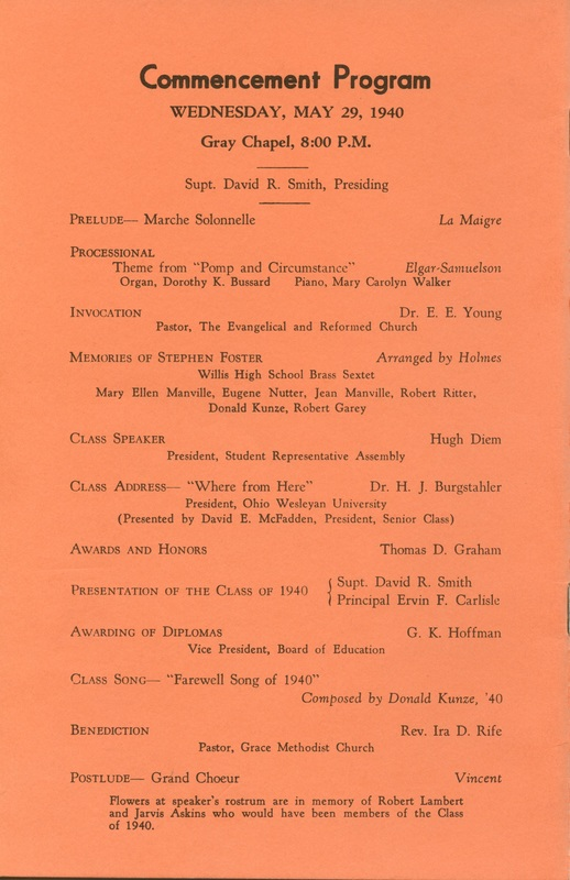 Willis High School Class of 1940 50th Reunion (p. 20)