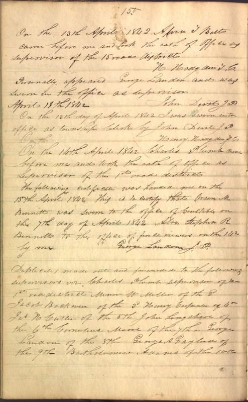 Record Book of Berkshire Township No. 2 1807-1843 (p. 164)