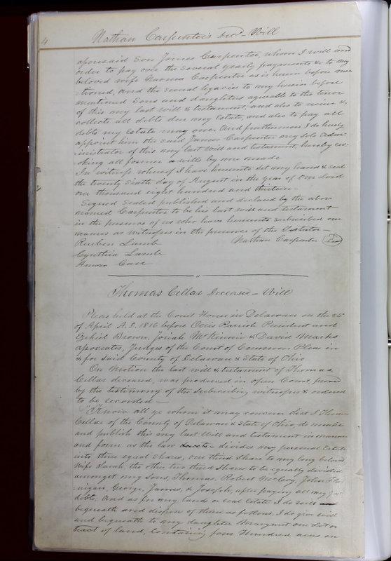 Delaware County Ohio Will Records Vol. 1 1812-1835 (p. 36)