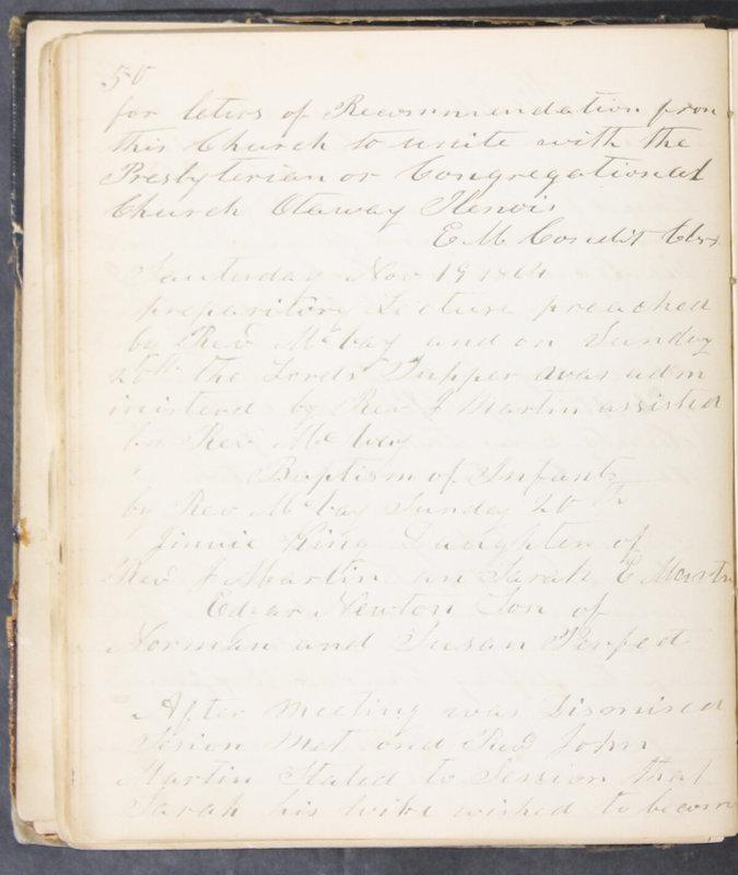 Sessional Records of the 1st Presbyterian Church of Trenton, Delaware Co., Ohio, 1831 (p. 56)