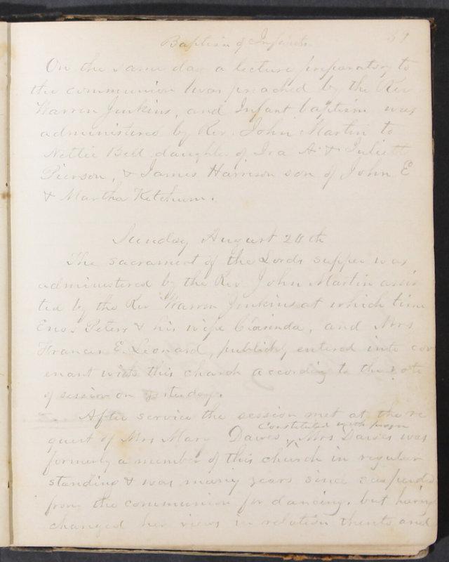 Sessional Records of the 1st Presbyterian Church of Trenton, Delaware Co., Ohio, 1831 (p. 45)