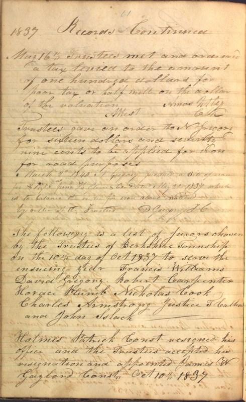 Record Book of Berkshire Township No. 2 1807-1843 (p. 74)
