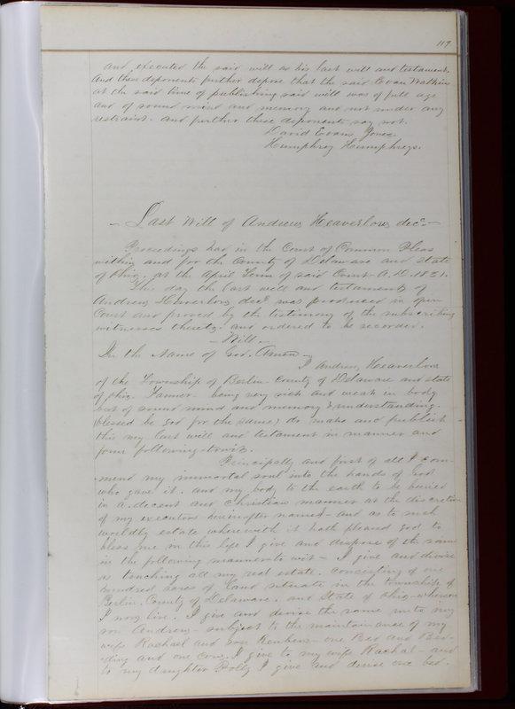 Delaware County Ohio Will Records Vol. 1 1812-1835 (p. 151)