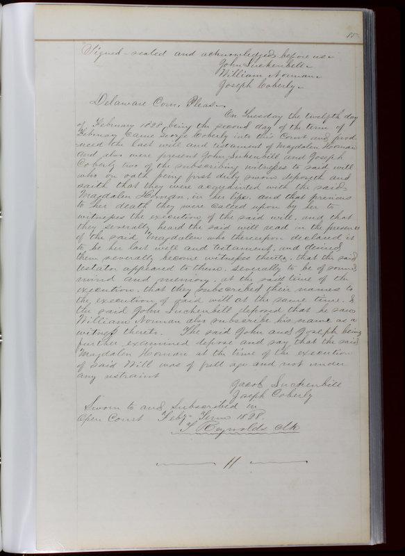 Delaware County Ohio Will Records Vol. 1 1812-1835 (p. 117)