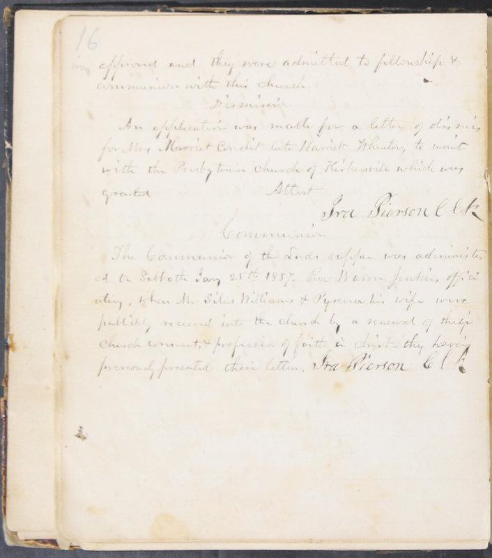 Sessional Records of the 1st Presbyterian Church of Trenton, Delaware Co., Ohio, 1831 (p. 22)